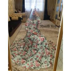 Нарядное платье под лён